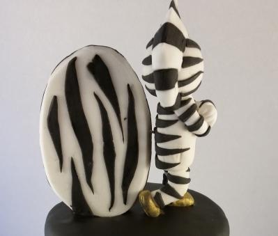 Zebra Juventus achterkant