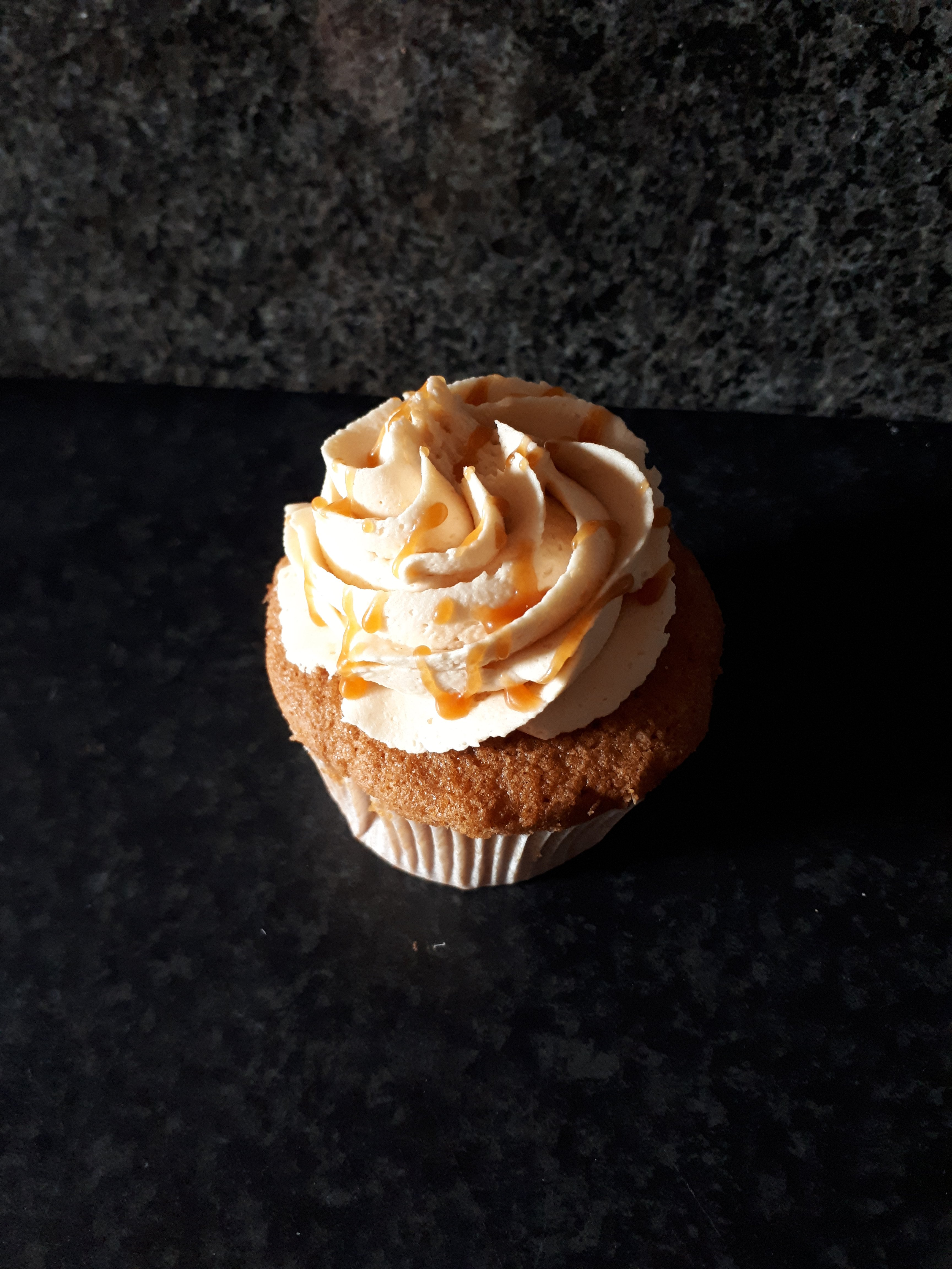Gezouten caramel Cupcakes.