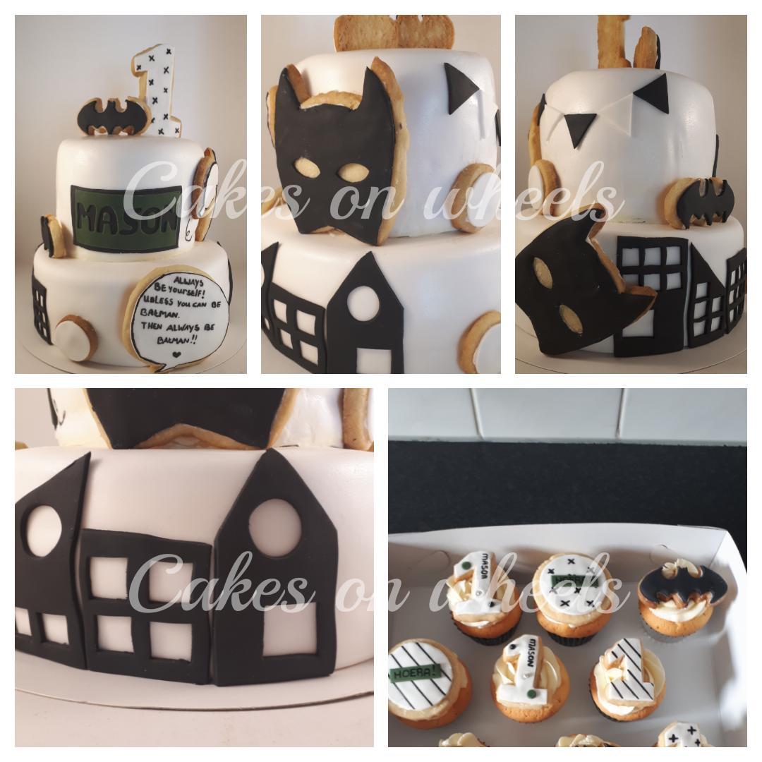 Taart en cupcakes voor Mason zijn 1e verjaardag