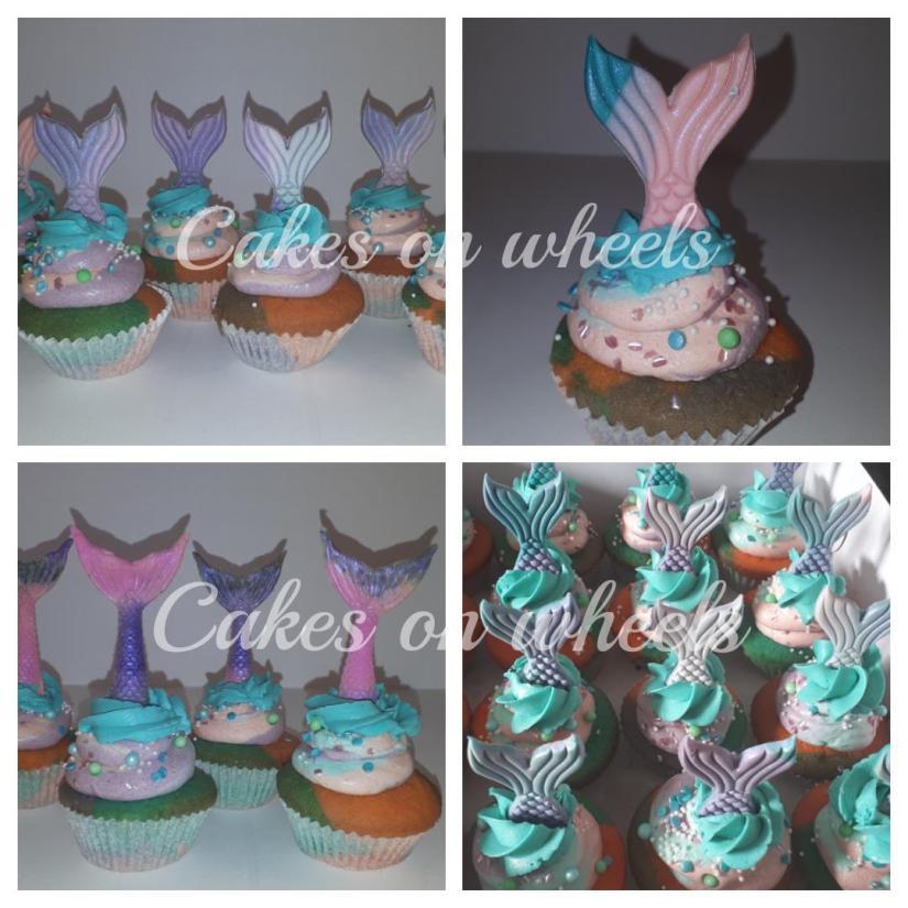 Zeemeermin cupcakes