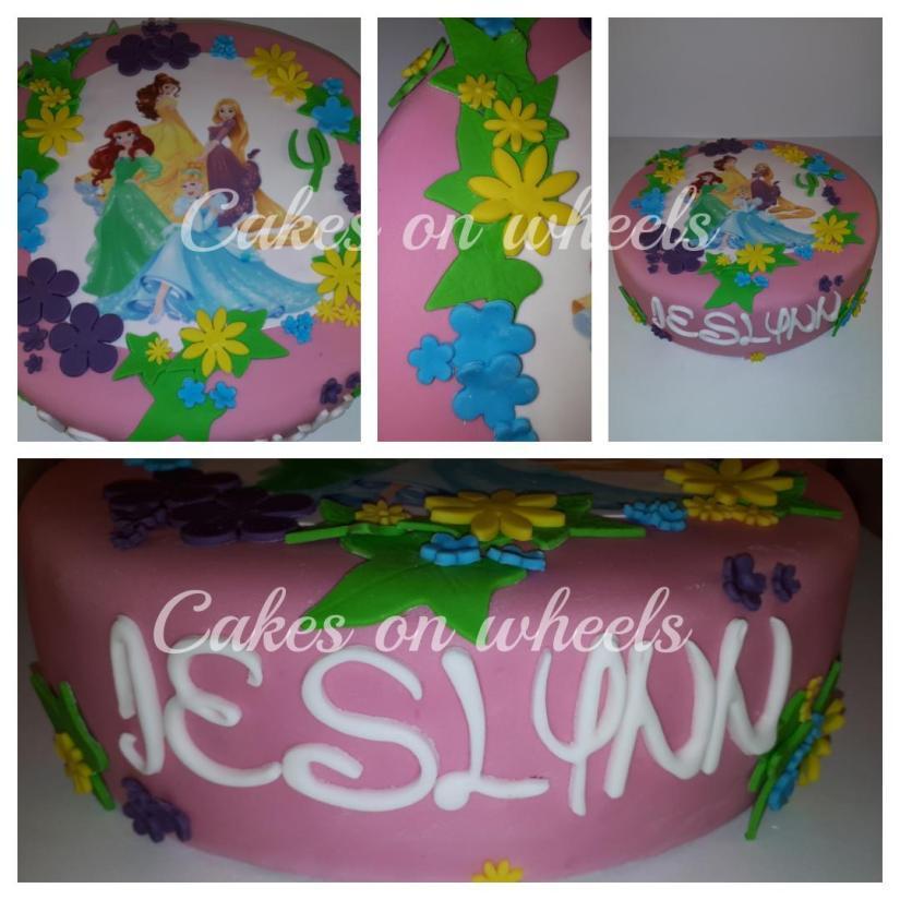 Prinsessen taart voor de 4e verjaardag van Jeslynn.