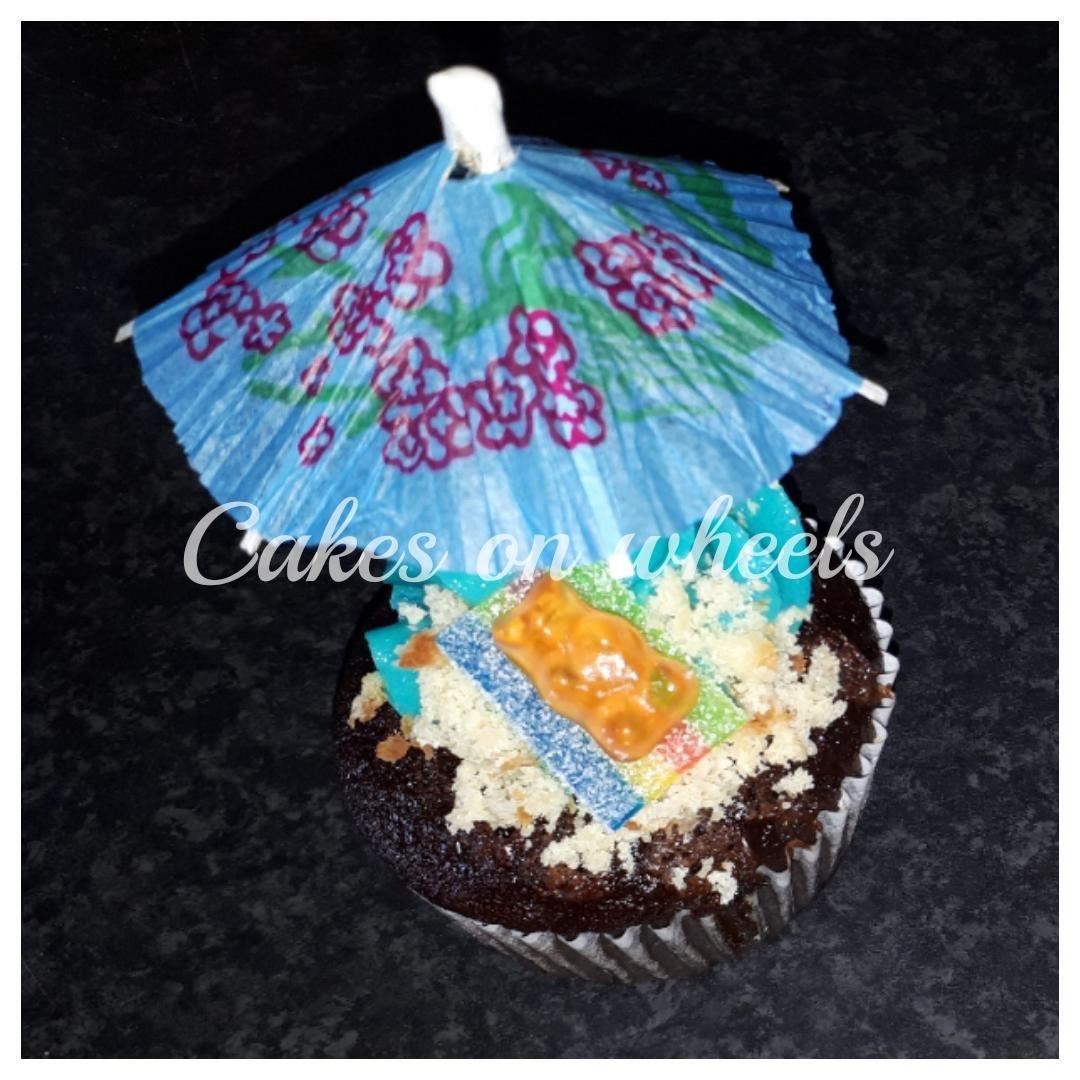 Zonnige cupcake