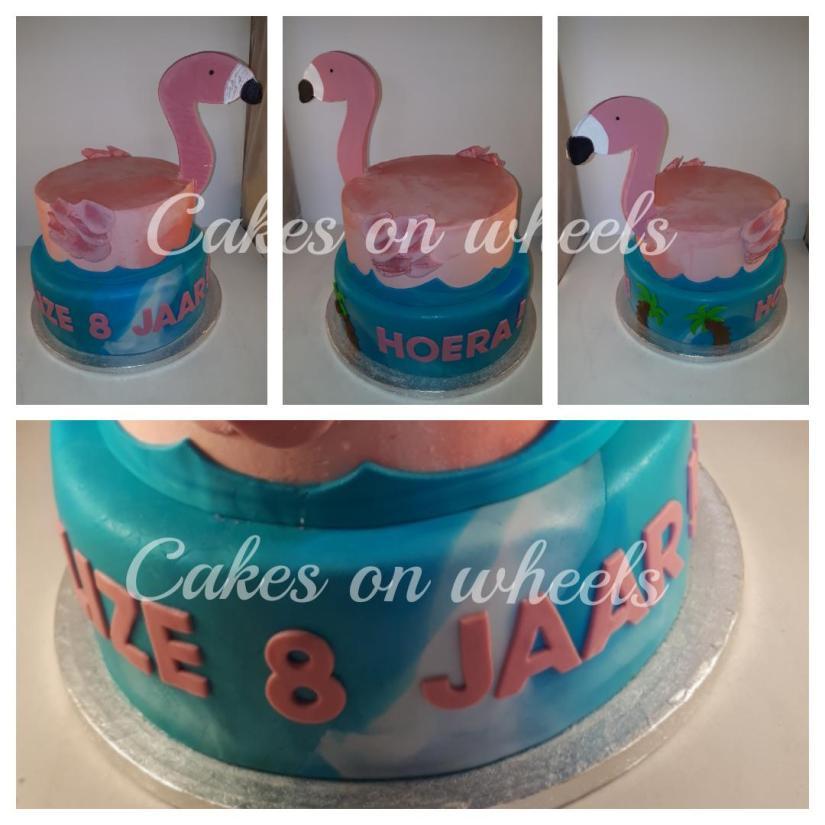 Flamingo taart.