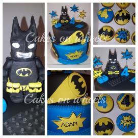 Lego Batman taart en cupcakes