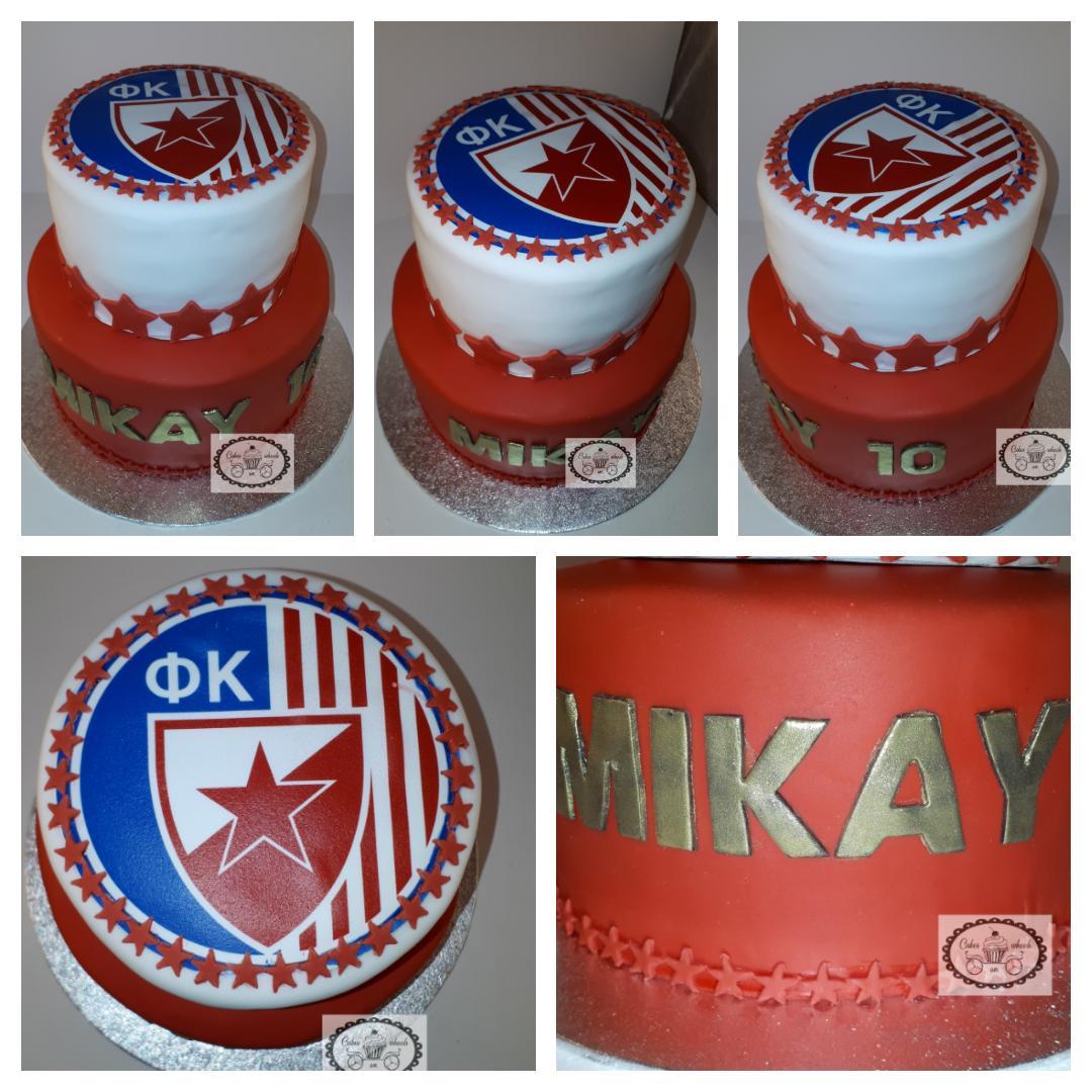 Red Star Belgrado taart.