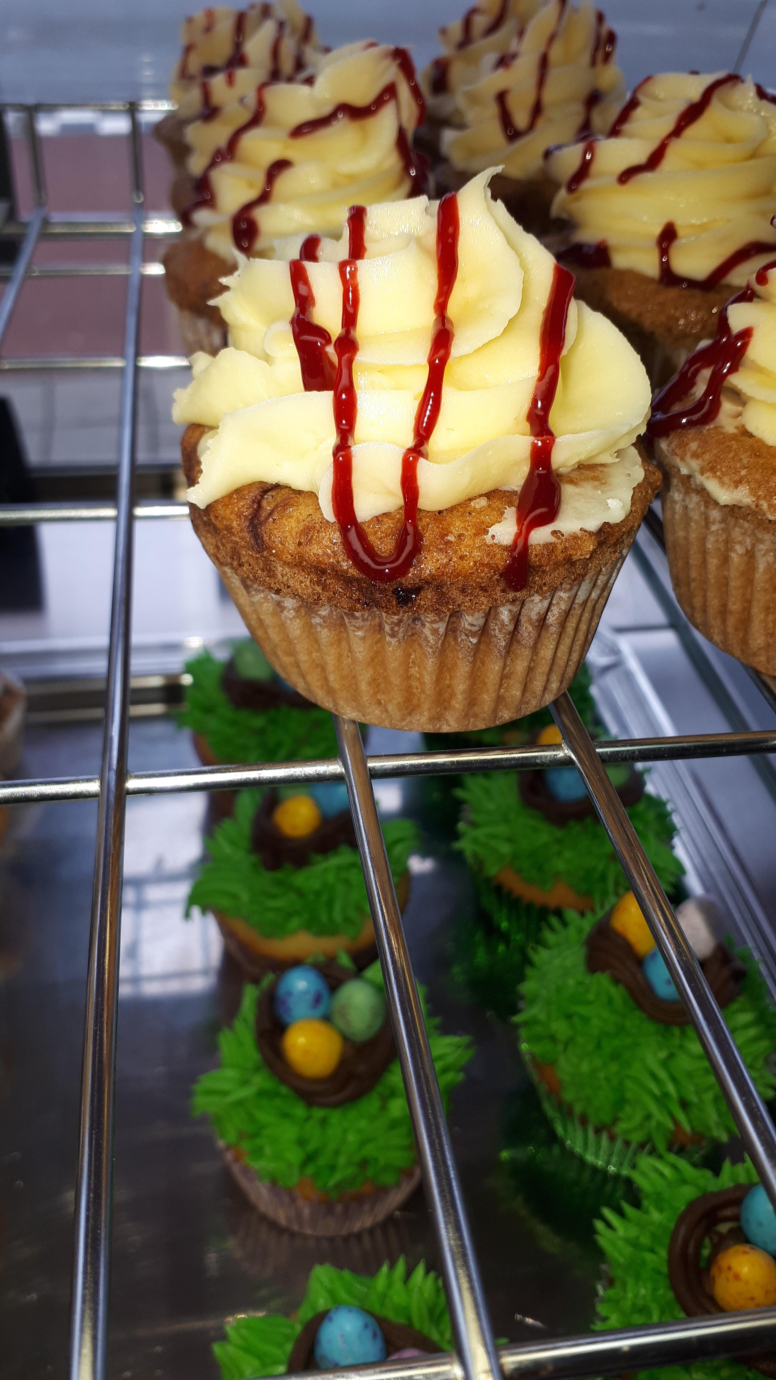 Aardbeien crème cupcakes