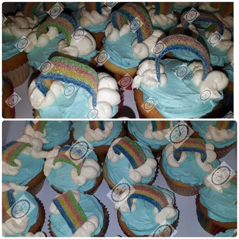 Regenboog Cupcakes