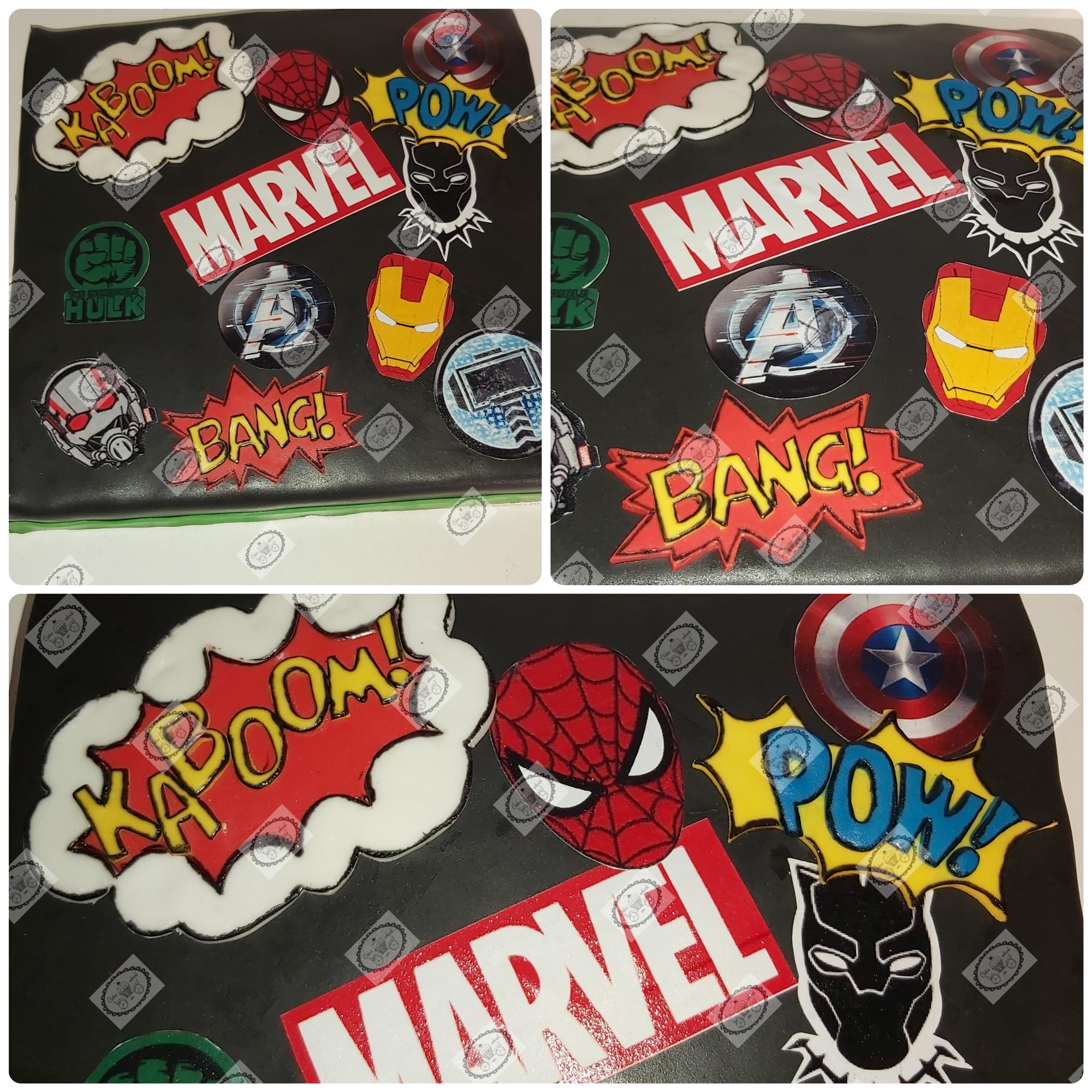 Marvel taart.