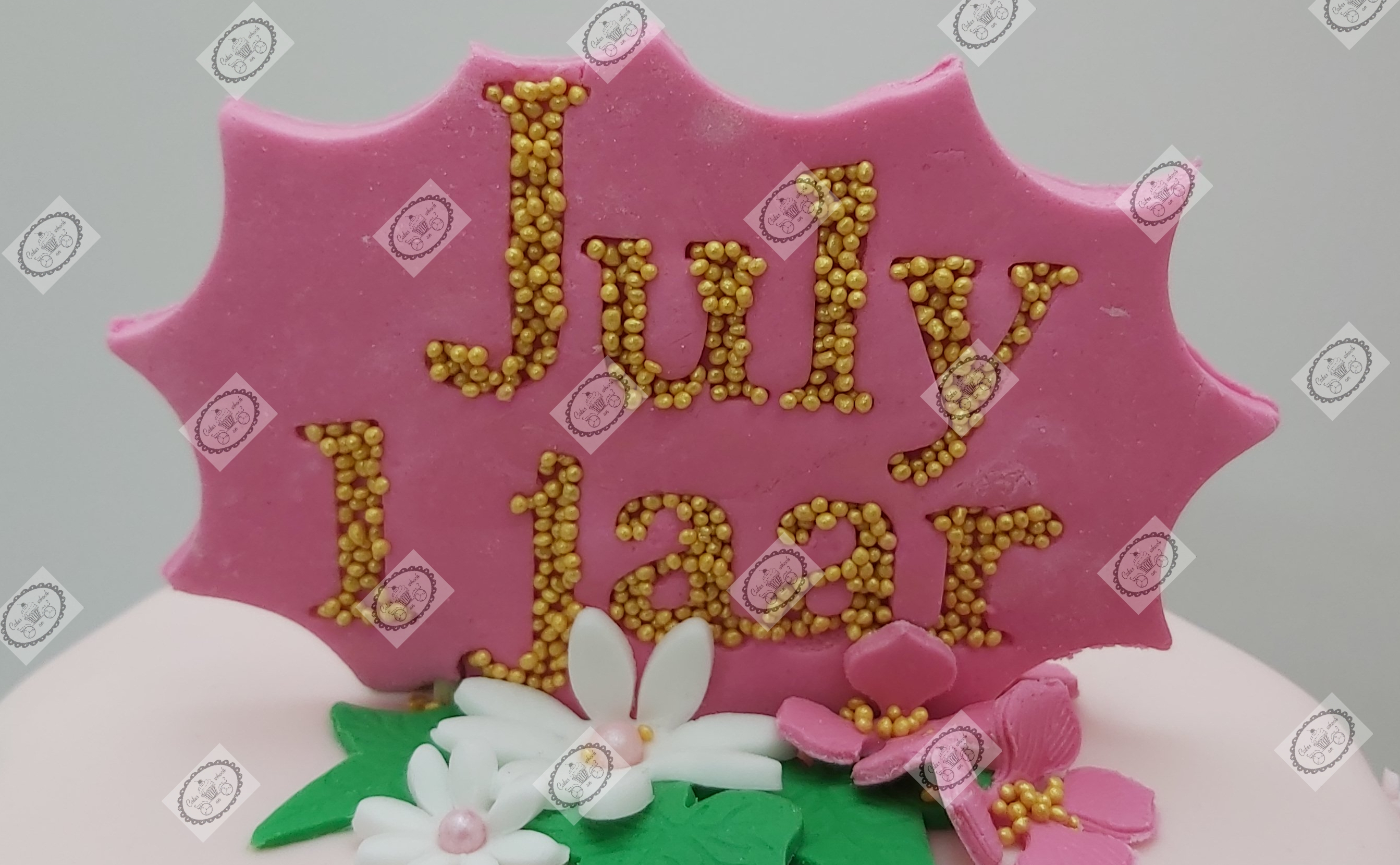 Caketopper July 1 jaar