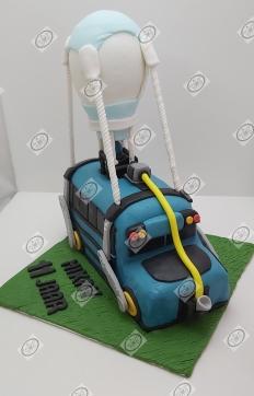 Fortnite bus taart.