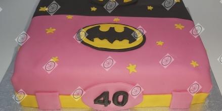 Batman/Batwoman taart.